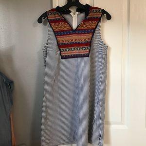 Seersucker tunic dress